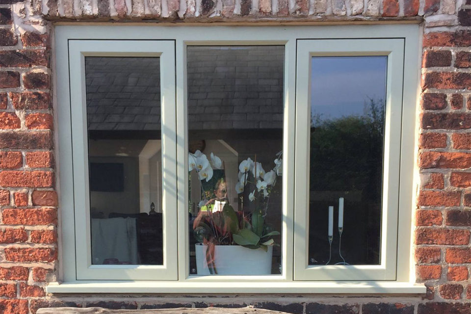 green timber casement windows