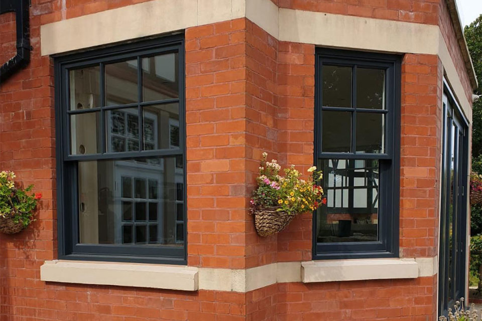 black sliding sash window Cheshire